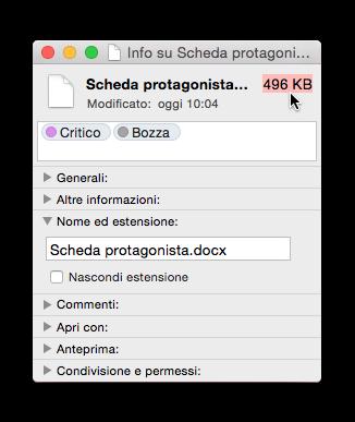 dimensione file .docx