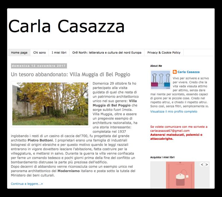 blog carla casazza
