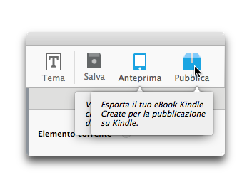 kindle create pubblica