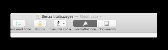 pages barra degli strumenti