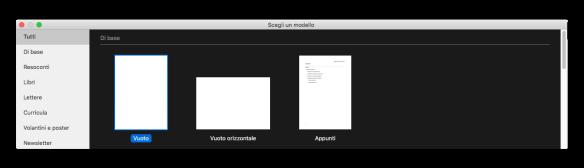 modello di base pages