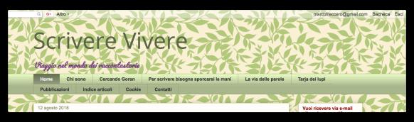 home page sito scriverevivere