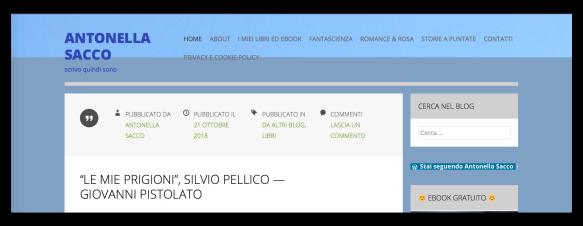 home page sito antonella sacco