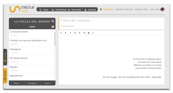 interfaccia write streetlib